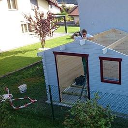 Montage de cabane de jardin