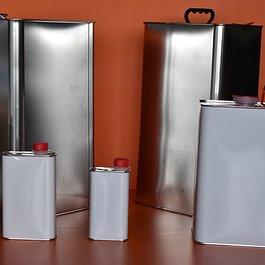 emballages en métal de 250 ml à 25lt