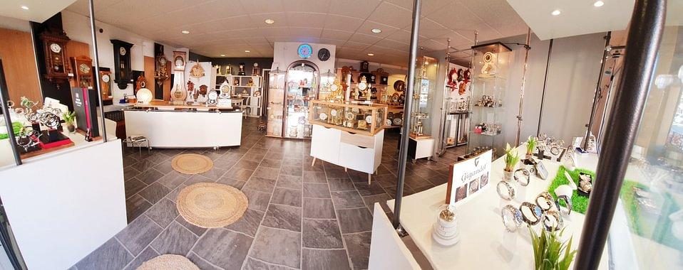 Notre magnifique magasin à Blonay Chez L'Horloger Sàrl.