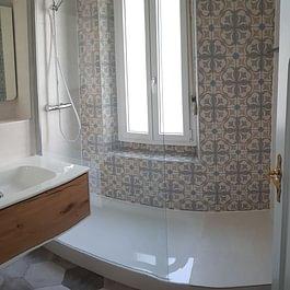 Rénovation totale d'un appartement à Lausanne - Nouvelle salle de douche