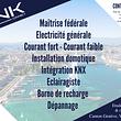 CNK Connect Sarl, Maitrise fédérale, électricité générale, courant fort et courant faible, installation domotique, intégration KNX, éclairagiste, borne de recharge, dépanage électricien