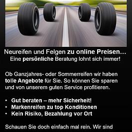 Besuchen Sie unseren Reifen Online Shop