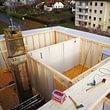 Réhaussement d'un immeuble (création d'un nouvel étage de 3 appartements), à Cossonay