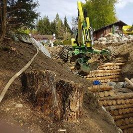 Nicht nur beim Hausbau wird auf fachgerechte Ausführung geachtet, sondern auch bei - wie in diesem Fall - einer Bachverbauung.