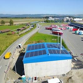 Photovoltaikanlage für AEW Energie AG installiert in Mägenwil