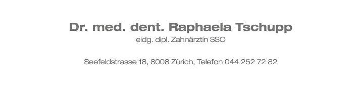 Dr. med. dent. Tschupp Raphaela