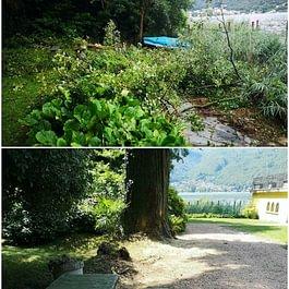 Intervento pulizia per danni da temporale estivo - Giardini ArteVerde Sagl