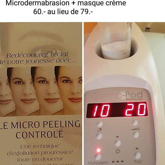 Promotion Décembre Microdermabrasion + masque crème 60.- au lieu de 79.-