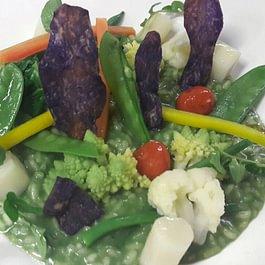 Risotto aux légumes et cressons, pour nos amis les végétariens