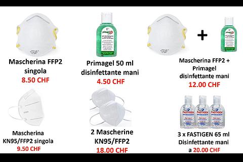 Mascherine e disinfettanti