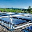Vakuumröhren-Solaranlage Kerzenfabrik Root