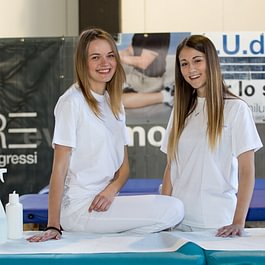 Studenti di Fisioterapia impegnati nella manifestazione Stralugano