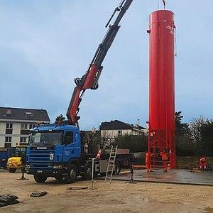Camion grue jusqu'à 80 tonnes