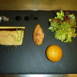 entrée foie gras de canard
