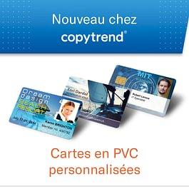 Cartes en PVC personnalisées