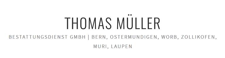 Bestattungsdienst Thomas Müller