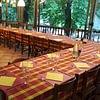 salone interno pronta per banchetto. max 70 persone