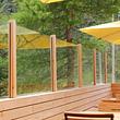 Glasbrüstung/Windschutz aus Glas