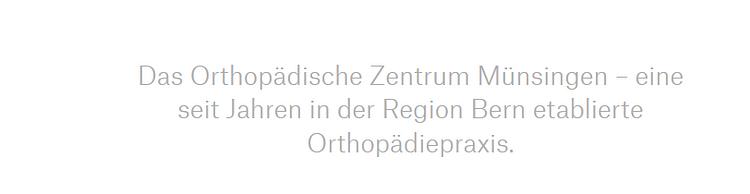 Orthopädisches Zentrum OZM