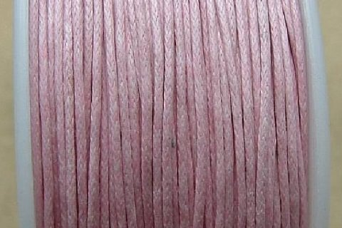 Baumwolle gewachst rosa 1mm 25m Faden Top qualität Juwelierdraht Draht