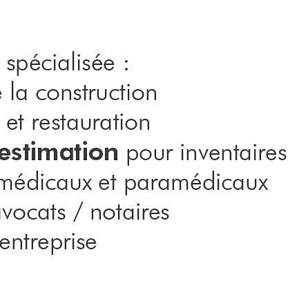 Nos secteurs principaux
