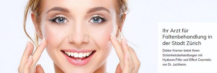 Beauty-behandlung Ästhetische Medizin zur Faltenbehandlung in Zürich durch Dr. Kremer
