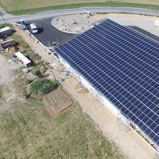 Installation solaire sur la déchetterie intercommunale de Duillier-Prangins