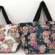 Einkaufstasche, trendige mexikanische Calavera Design-Tasche aus Stoff