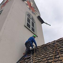 Reparaturarbeiten Kirchendach