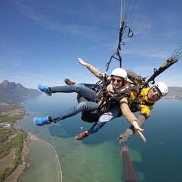 parapente biplace, Paragliding tandem lac léman