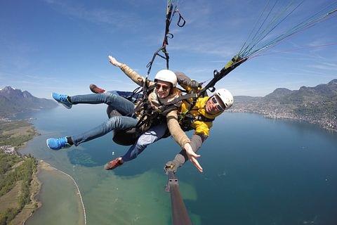 Parapente biplace / Paragliding tandem Montreux, Villeneuve
