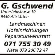 Gschwend Land und Hoftechnik GmbH