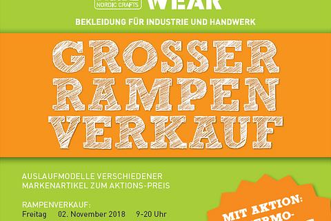 Grosser Rampenverkauf 2. - 3. November 2018