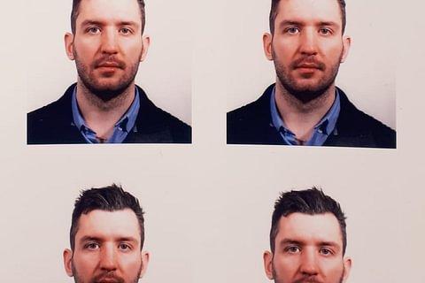 Foto formato passaporto.