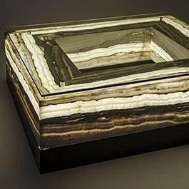 Salontisch / hinterleuchteter Onyxstein aus Mexiko