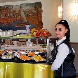 Sala Colazioni, buffet colazione, Cibo, Bevande, Breakfast room, Frühstücksbuffet