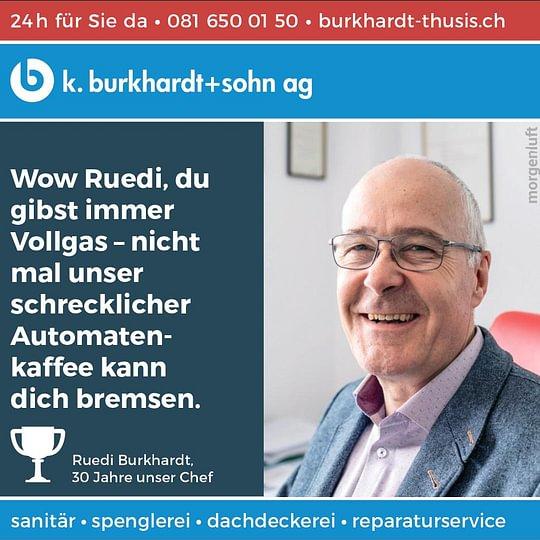 Geschäftsleitung Rudolf Burkhardt