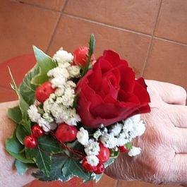 Braccialetto rosa rossa