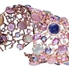 Crivelli: Bracelet with colorful corundum, sapphires and diamonds