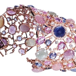 Crivelli: Bracelet with colorful corundum, sapphires and diamonds