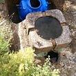 Brunnen mit 1000 l Regenwassertank