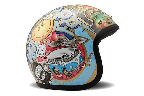 DMD Helmet Woodstock - flower power, vw