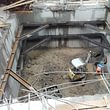 Montage Stahlrahmen Baugrubensicherung