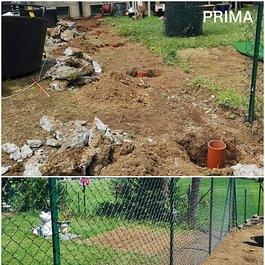 Montaggio recinzione - Giardini ArteVerde Sagl