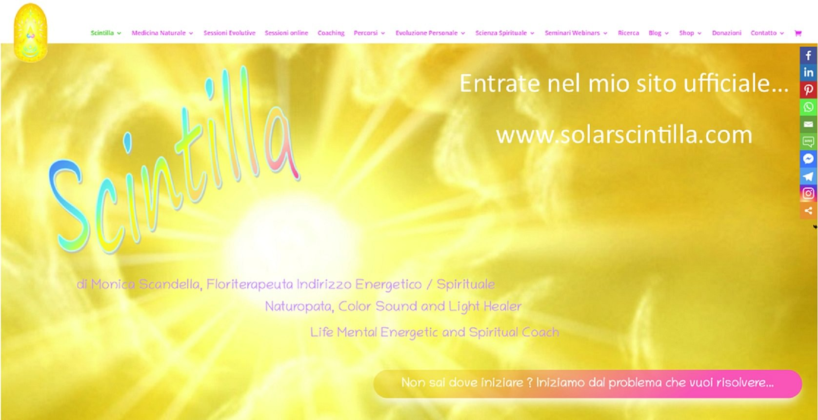 Scintilla - Terapie Vibrazionali/Oscillanti e Seminari/Webinars Evolutivi e di Risveglio di Consapevolezza