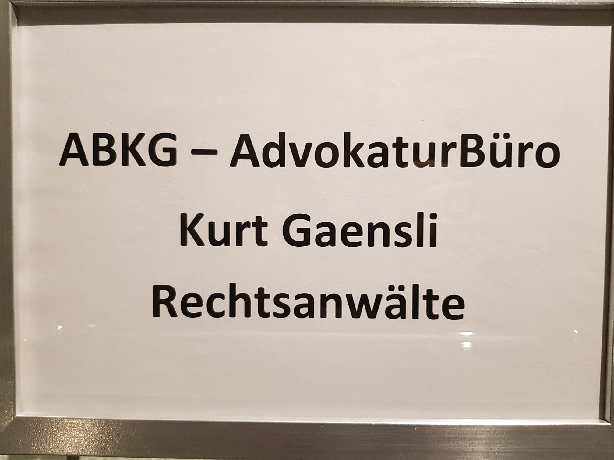 ABKG - AdvokaturBüro Kurt Gaensli