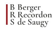 BRS BERGER RECORDON & DE SAUGY