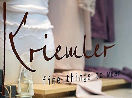 Kriemler - fine things to wear