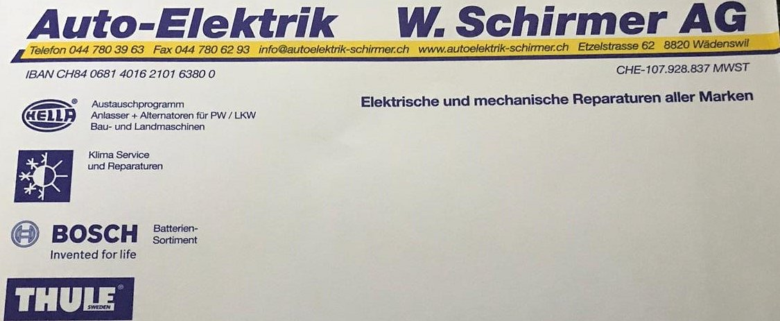 Auto-Elektrik W. Schirmer AG