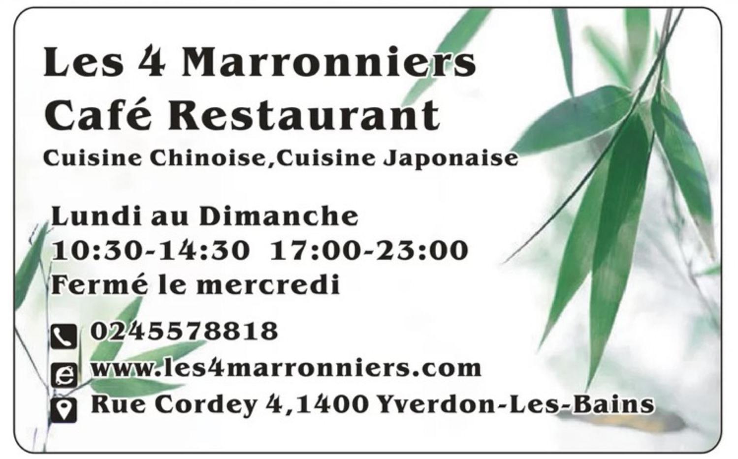 Café Restaurant Japonais les 4 Marronniers